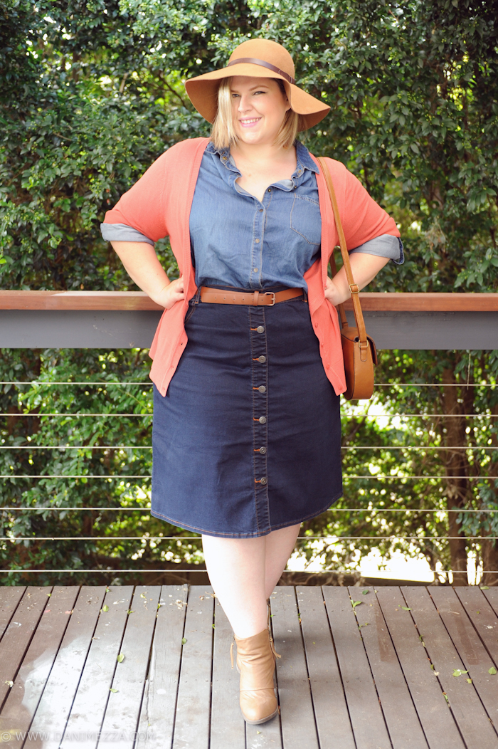 plus size button front skirt 1 - plus size button front skirt 1