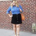 plus size button front skirt 2 120x120 - 9 stylish plus size button front skirt outfit ideas