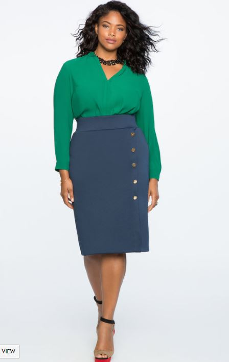 plus size button front skirt - plus size button front skirt