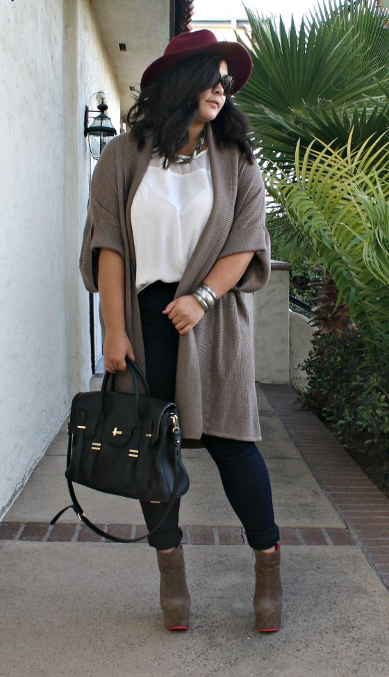 25 casual plus size winter outfits you have to try 16 - 25-casual-plus-size-winter-outfits-you-have-to-try-16