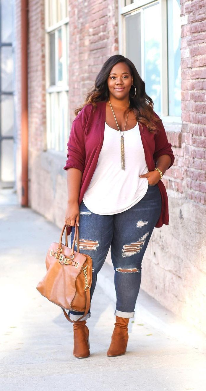 25 casual plus size winter outfits you have to try 18 - 25-casual-plus-size-winter-outfits-you-have-to-try-18