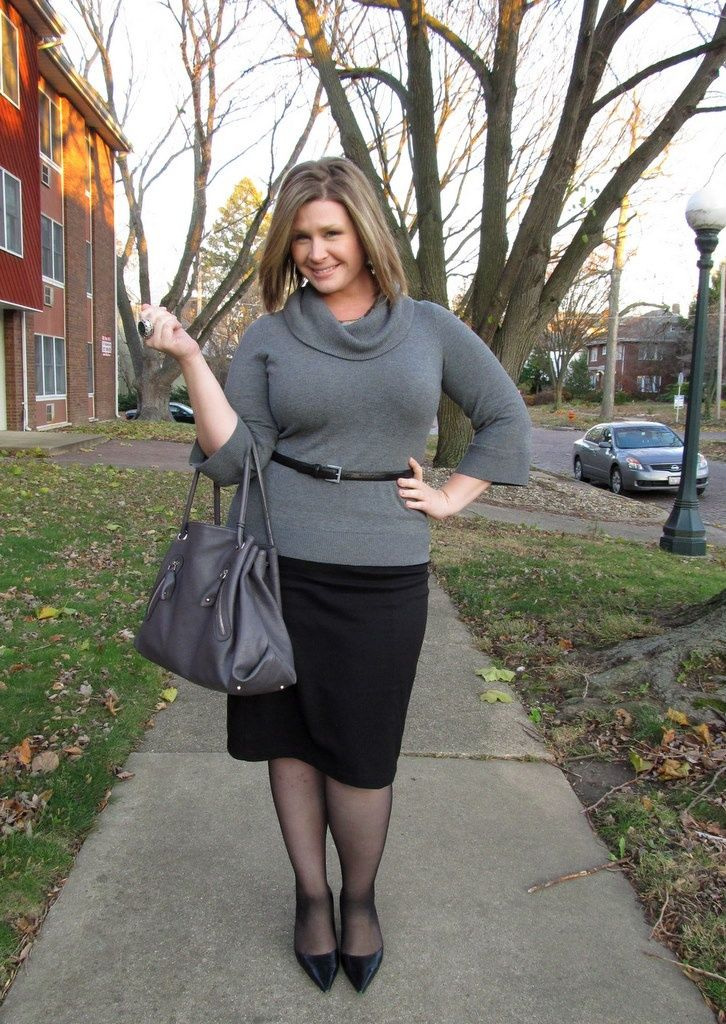 25 plus size winter work outfits you can try - curvyoutfits.com