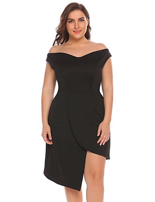 11 plus size short black dresses for fashionable outfits 6 - 11-plus-size-short-black-dresses-for-fashionable-outfits-6