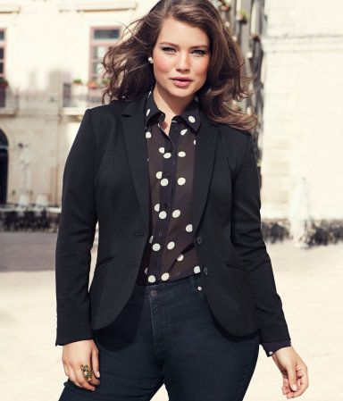 8 plus size spring outfits with polka dot tops 2 - 8-plus-size-spring-outfits-with-polka-dot-tops-2