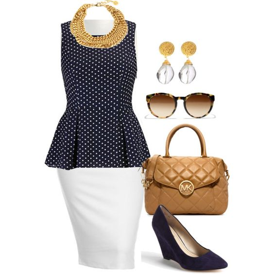 8 plus size spring outfits with polka dot tops 3 - 8-plus-size-spring-outfits-with-polka-dot-tops-3