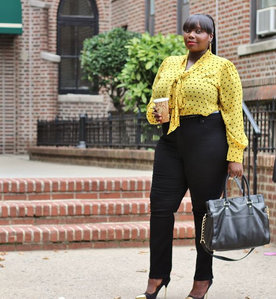8 plus size spring outfits with polka dot tops 6 - 8-plus-size-spring-outfits-with-polka-dot-tops-6